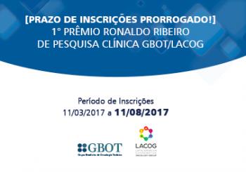 [Prazo de Inscrições Finalizado] Prêmio Ronaldo Ribeiro de Pesquisa Clínica