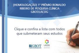 Homologação dos Inscritos no Prêmio Ronaldo Ribeiro de Pesquisa Clínica