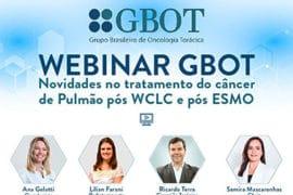 [Webinar Gbot] – Novidades no tratamento do câncer de pulmão pós WCLC e pós ESMO