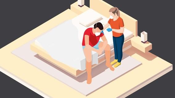 O que fazer caso haja a necessidade de dividir a casa com um(a) infectado(a) pela Covid-19?/Imagem: BBC